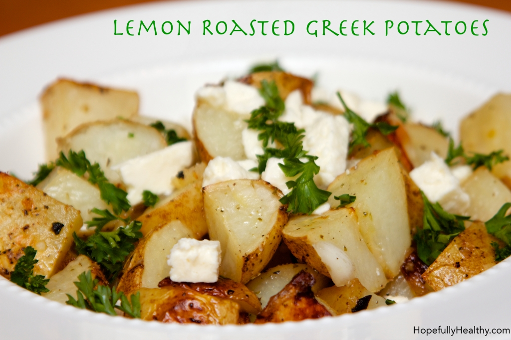 Lemon Roasted Greek Potatoes