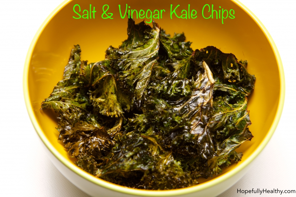 Salt & Vinegar Kale Chips with Text
